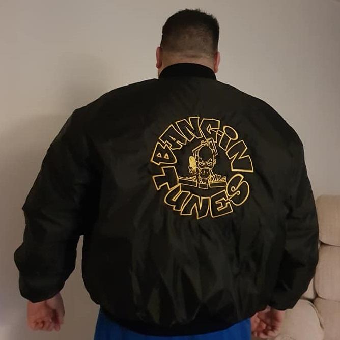 Bangin Tunes MA1 Bomber Jacket Black