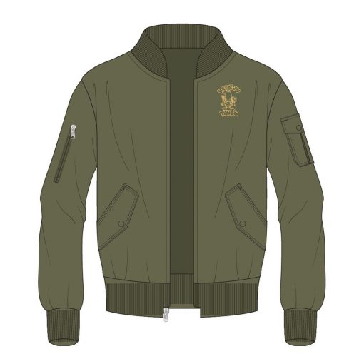 Bangin Tunes MA1 Bomber Jacket Olive